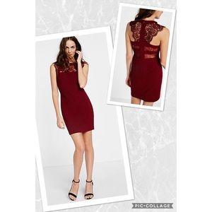 NWT Elegant Red Lace Back Dress